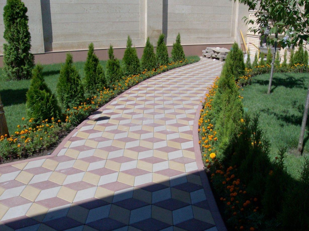 Как сделать двор из тротуарной плитки 301